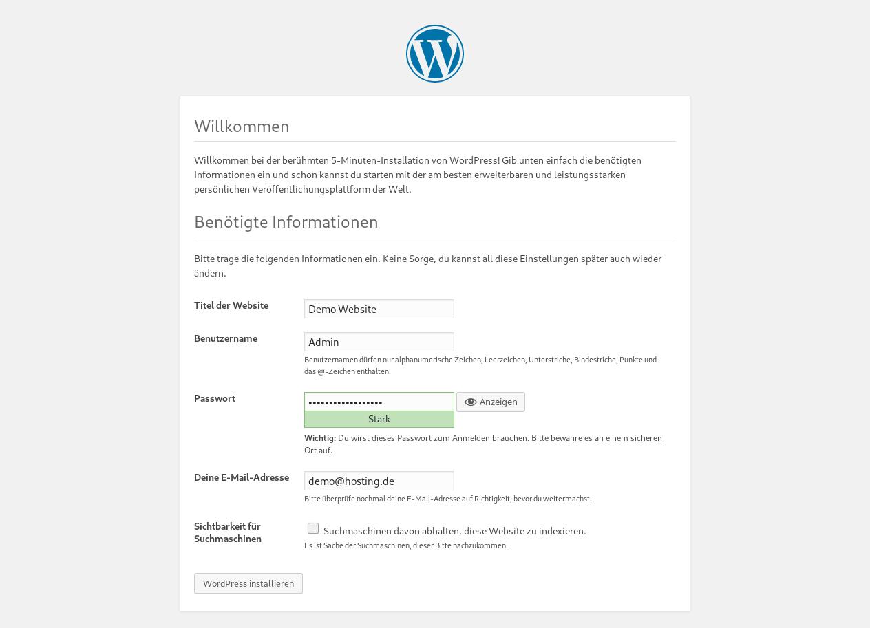 Wordpress Installer 4