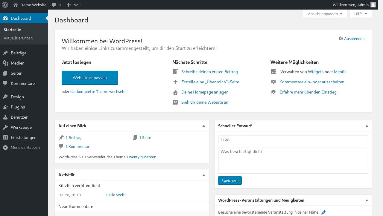 Wordpress Installer 7 - Backend