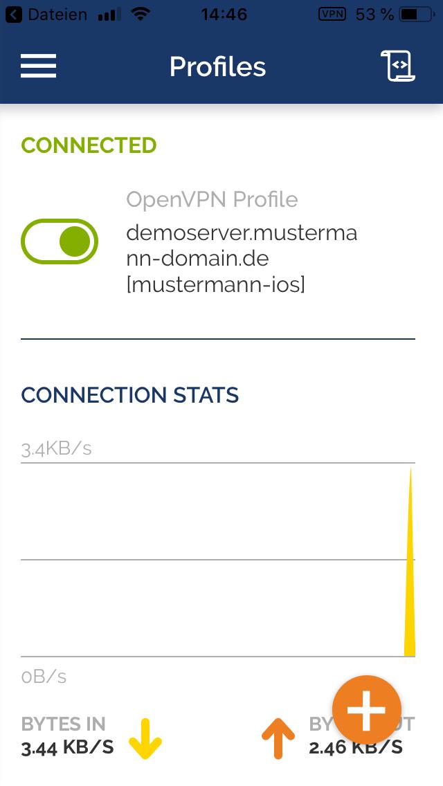 OpenVPN unter iOS