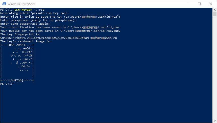 ssh-keygen auf Windows