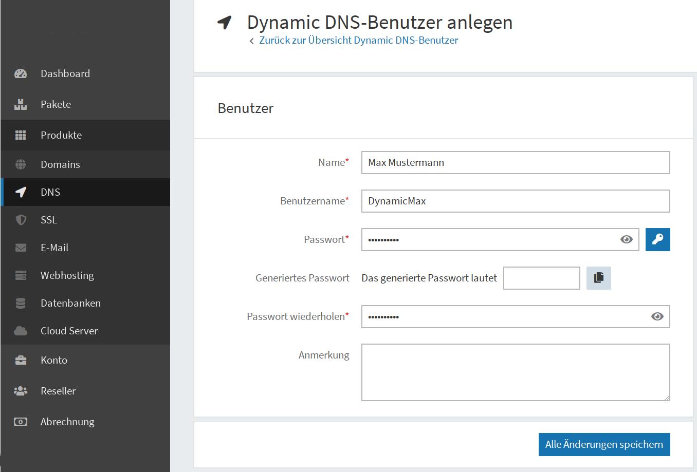 Dynamic DNS einrichten 03