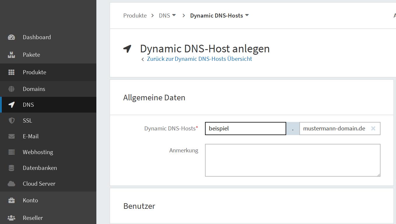 Dynamic DNS einrichten 07