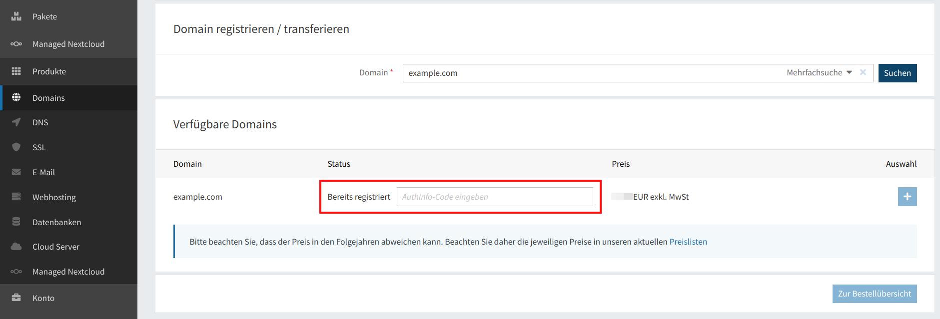 Domain-Registrierung 04