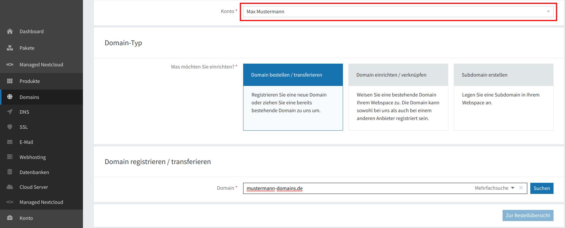 Domain-Registrierung 11