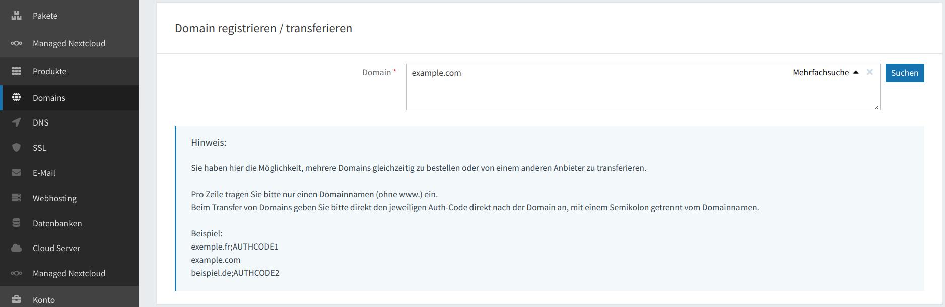 Domain-Registrierung 13