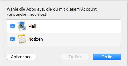 Einrichtung eines E-Mail-Kontos in Apple Mail Schritt 5