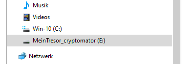 Cryptomator unter Windows