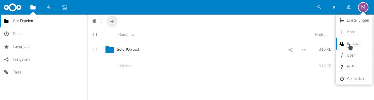 Nextcloud Benutzer-Einrichtung
