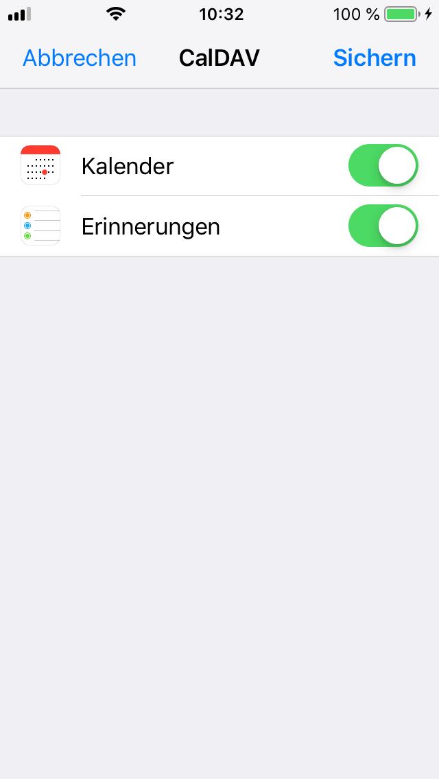 Nextcloud iOS Kalender