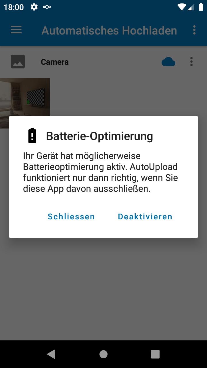 Nextcloud Android App Autoupload