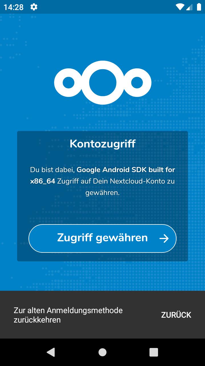 Nextcloud Android App Login