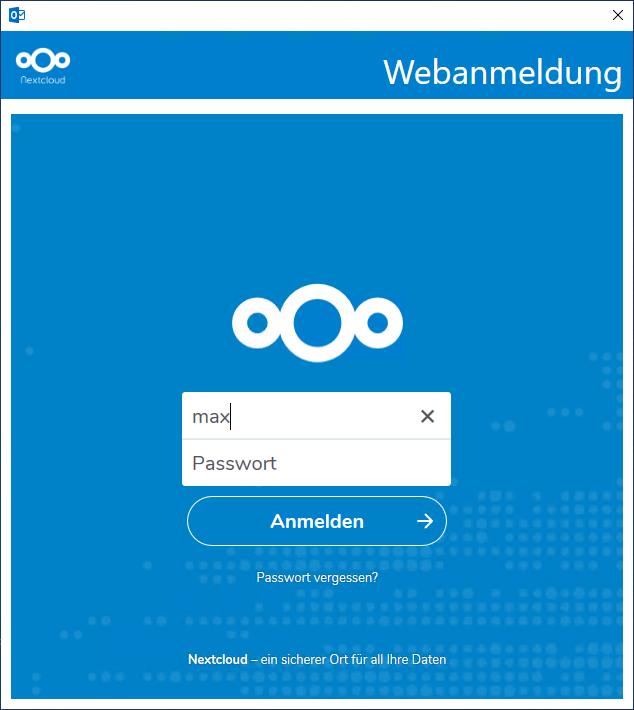 Installation des Nextcloud CalDav Synchronizer für Outlook