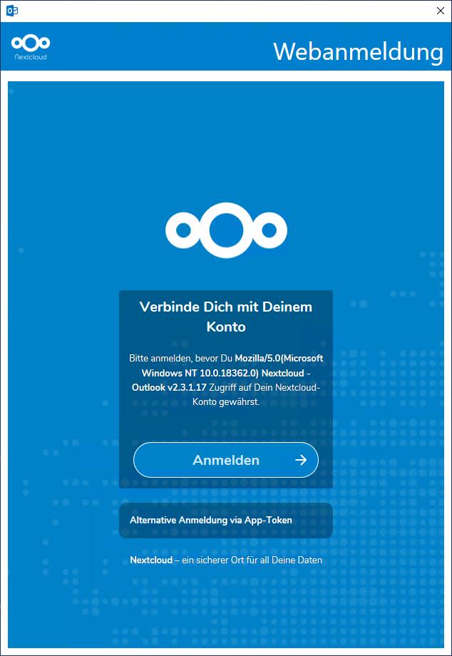 Konfiguration des Nextcloud CalDav Synchronizer für Outlook