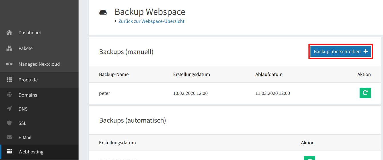 Webspace-Backup anlegen 03