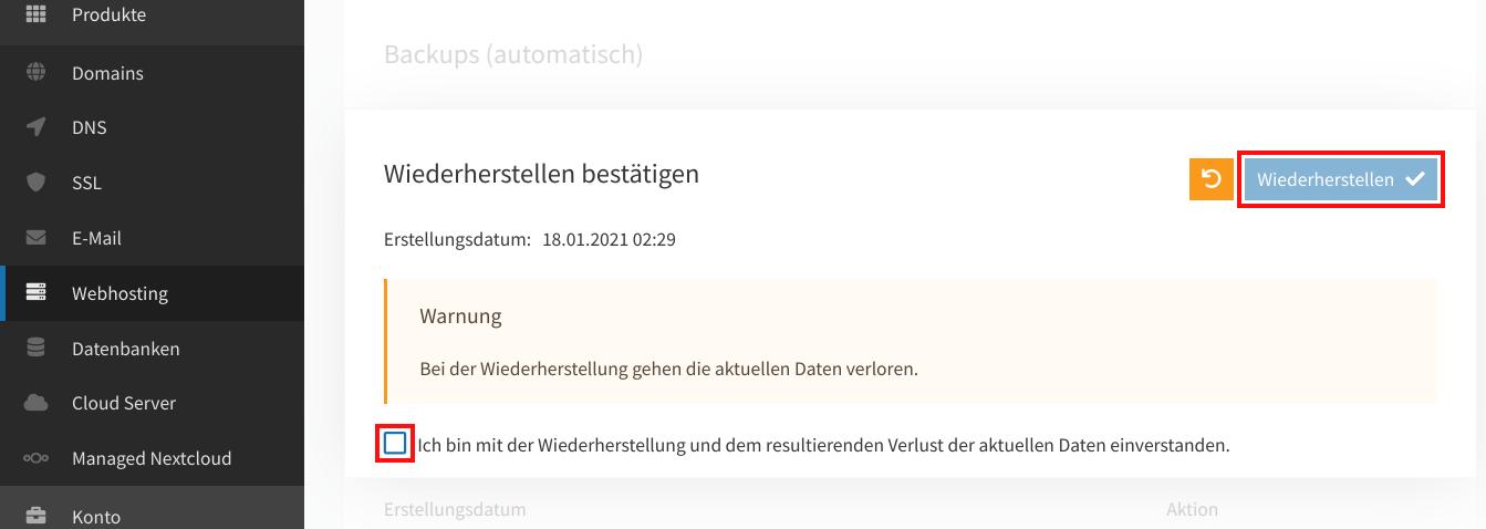Webspace-Backup wiederherstellen 04