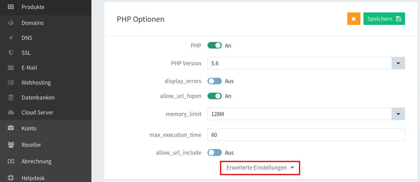 PHP-Optionen 03